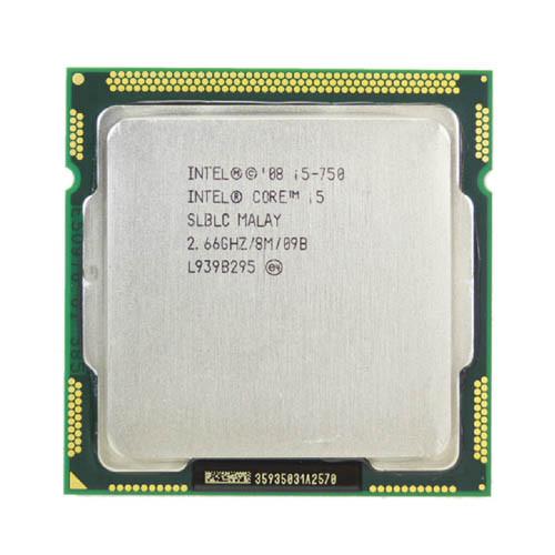Процессор Intel Core i5-750, 4 ядра, 2.66ГГц, LGA1156