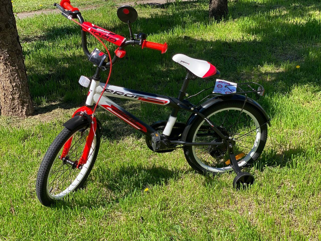 """Дитячий велосипед Profi Inspirer 18"""" Чорно-біло-червоний SY1855"""