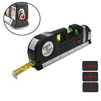 Лазерний рівень нівелір 2 лінії 5 точок Fixit Laser Level Pro 3, рулетка