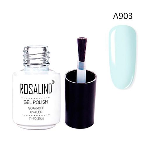 Гель-лак для ногтей маникюра 7мл Rosalind, шеллак, А903 пастельно голубой