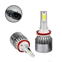 Лампи світлодіодні автомобільні C6 H11 H9 H8 PGJ19-2 12В 72Вт 7600лм