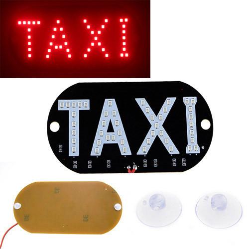 Автомобильное LED табло табличка Такси TAXI 12В, красное