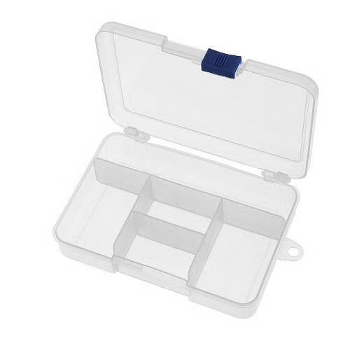 Коробка органайзер кейс для снастей бисера 140х95x33мм 5 ячеек