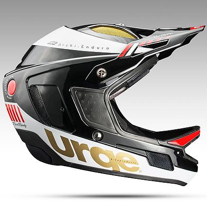 Шлем Urge Archi-Enduro черно-белый ХL (61-62см), фото 2