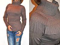 Теплый  свитерок необычного фасона