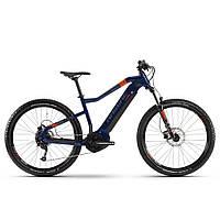 """Електровелосипед Haibike SDURO HardSeven 1.5 i400Wh 9 s. Altus 27,5"""", рама XL, блакитний-помаранчевий-титан, 2020"""