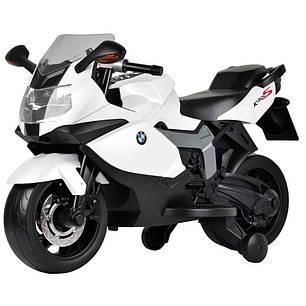 Детский Мотоцикл BMW Z 283 белый, заводится ключом, плавный старт, фото 2