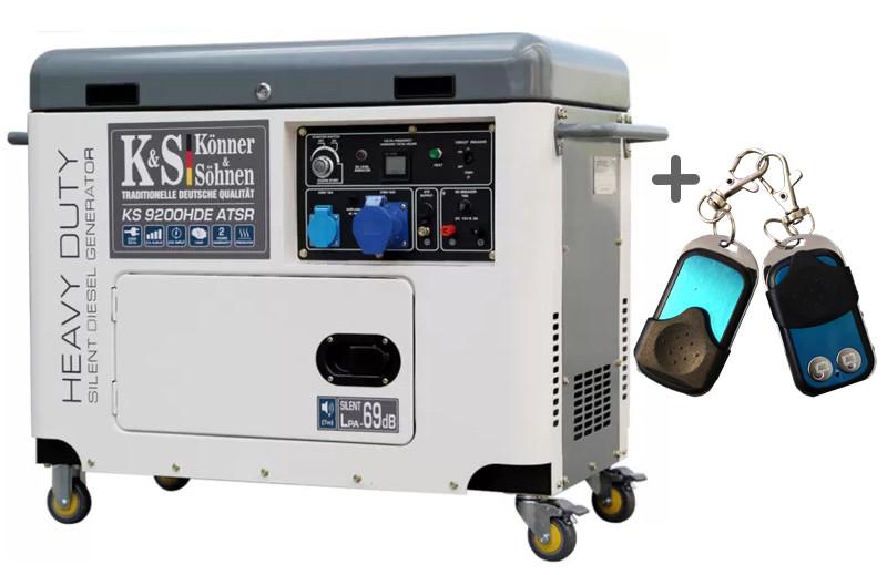Дизельний генератор Konner&Sohnen KS 9200HDE atsR (EURO V)