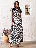 Женское платье в цветочный принт большого размера, фото 2