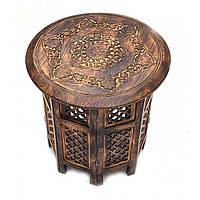 Деревянный кофейный столик 46 см