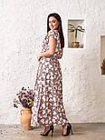 Женское платье в цветочный принт большого размера, фото 3