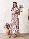 Женское платье в цветочный принт большого размера, фото 4