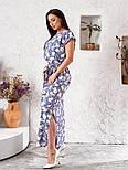 Женское платье в цветочный принт большого размера, фото 6