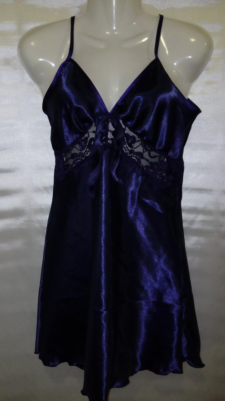 Женский атласный пеньюар+халат, фото 1