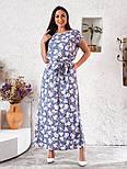 Женское платье в цветочный принт большого размера, фото 7