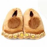 Тапочки ноги первісної людини brown, фото 2