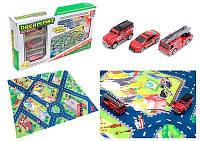 """Набор машин """"Пожарная служба"""" с картой города"""
