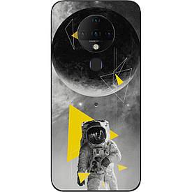 Чехол силиконовый для Tecno Spark 6 с картинкой Астронавт