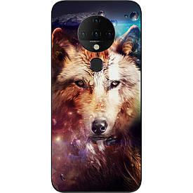 Чехол силиконовый для Tecno Spark 6 с картинкой  Космический волк