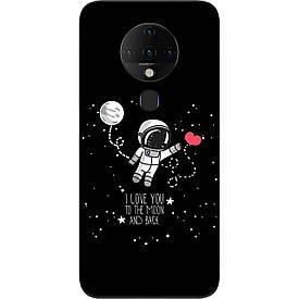 Чехол силиконовый для Tecno Spark 6 с картинкой  Любовь до луны