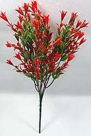"""Зелений з червоним""""аквілегія нова""""30см кущ штучної зелені для декорування, фото 1"""