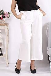 Модні білі батальні брюки кюлоти
