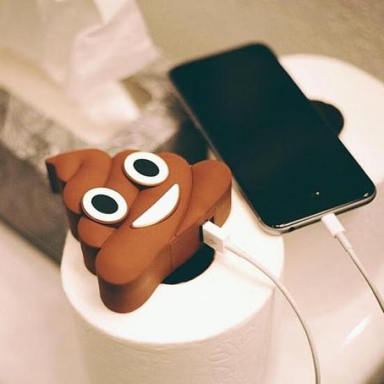 Універсальна портативна батарея Power Bank Какашка poop brown