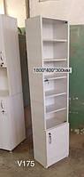 Шкаф пенал со стеклянной дверцей Модель V175, фото 1