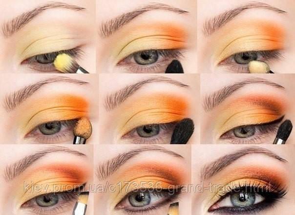 Макияж пошагово для голубых глаз