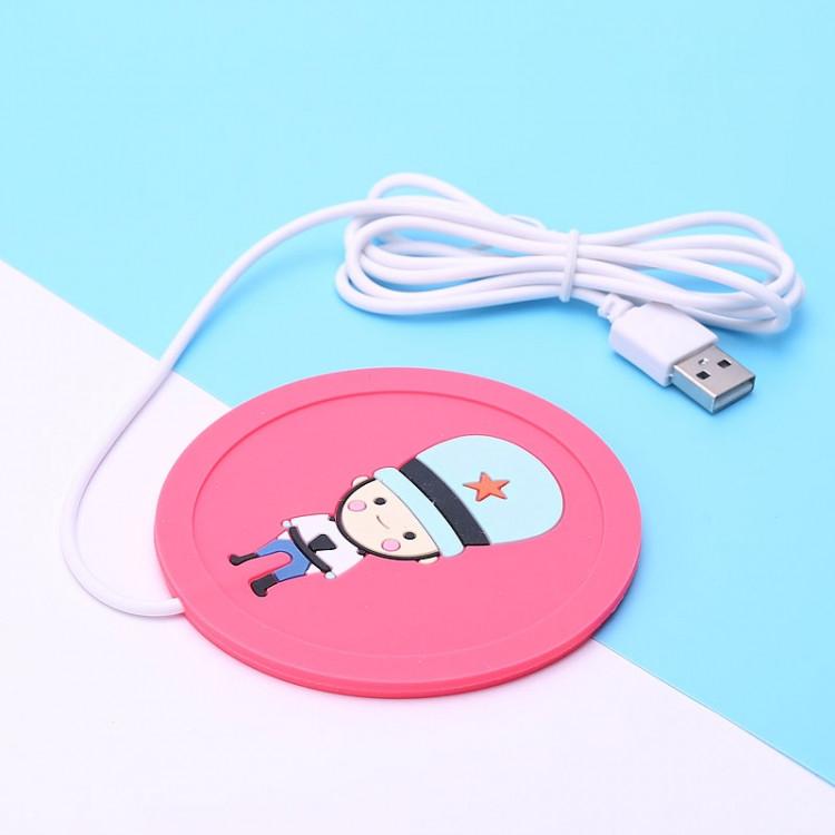 USB подогрев чашки Солдатик pink