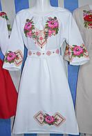 """Жіноча сукня """"Вишитий оберіг"""" біле"""