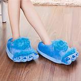 Тапочки ноги первобытного человека blue, фото 2