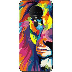 Бампер силиконовый для Tecno Spark 6 с рисунком Яркий лев