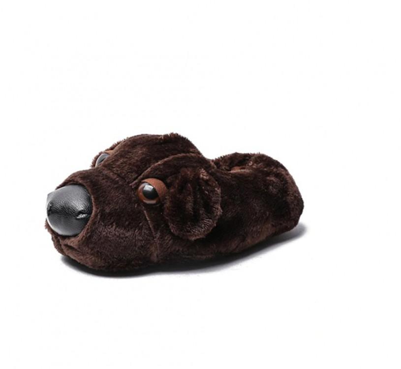 Домашние тапочки Собака Dark Brown 35-40 р
