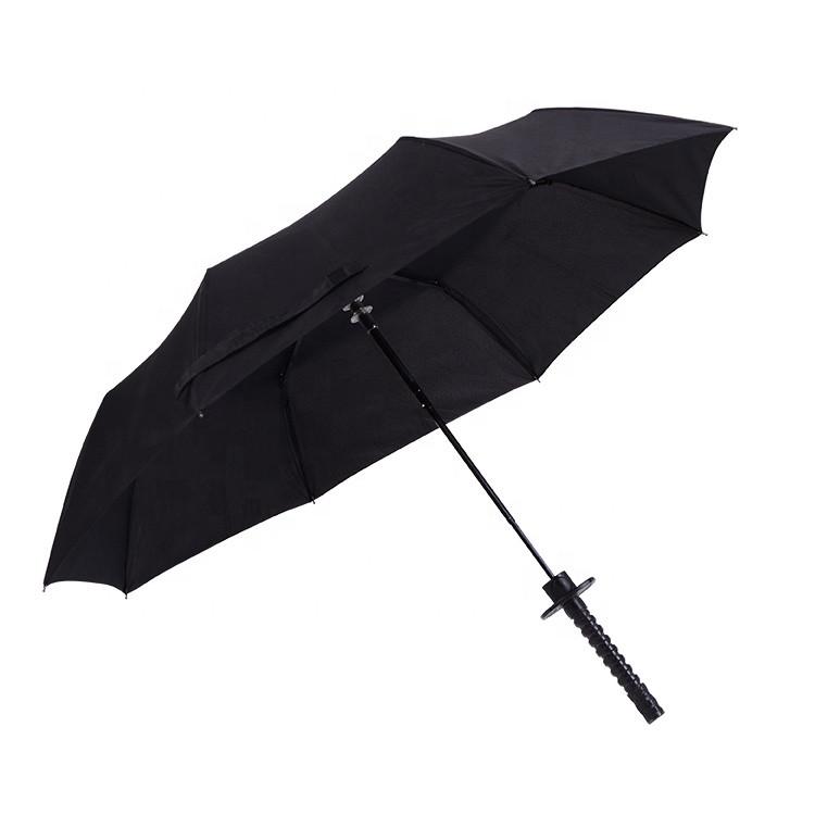 Зонт катана з червоною ручкою