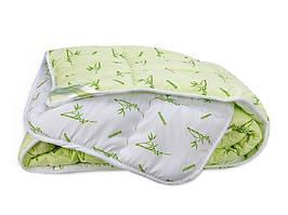Одеяло Leleka-Textile Бамбук премиум Полуторный 140х205 см Зеленый с белым 1005497, КОД: 1659322