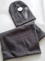 Модные комплекты шапка+хомут для девочек и мамочек в наличии