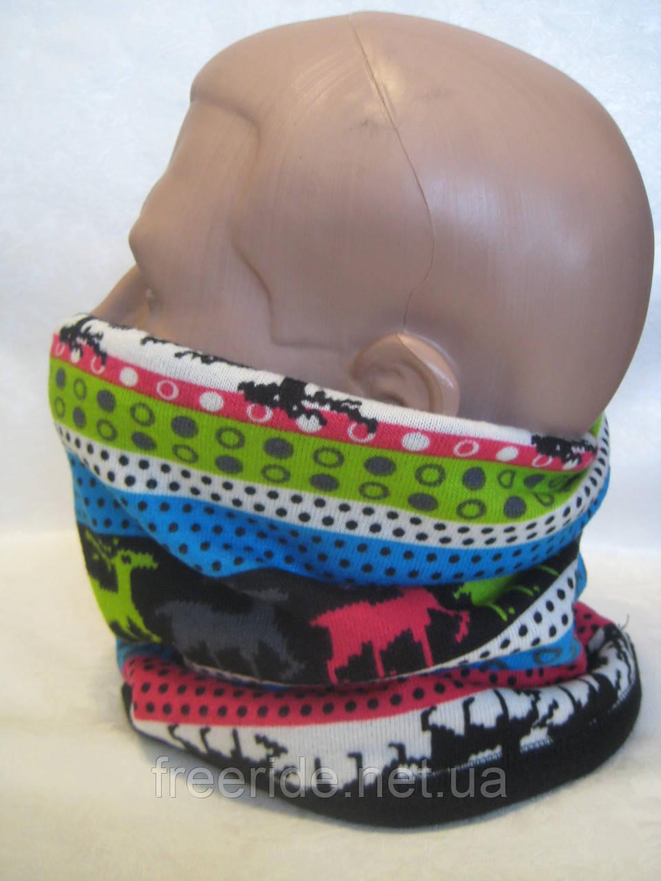 Зимний бафф, теплый шарф-труба, шапка (#559)