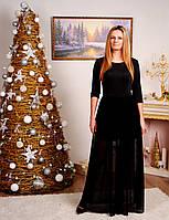 Платье длинное черное