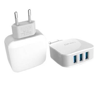 Сетевое зарядное устройство на 3USB выхода + кабель Lightning LDNIO DL-AC70, фото 2