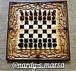 """Шахи-нарди-шашки 3 в 1 """" Дракони Інь - Янь """", ручна робота, фото 2"""
