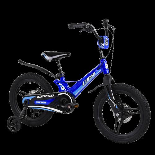 Велосипед дитячий для хлопчика дівчинки 5 6 7 років колеса 16 дюймів Corso MG-16147 магнієва рама литі диски