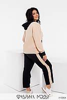 Прогулянковий жіночий костюм з кишенями на блискавці з 48 по 62 розмір, фото 3