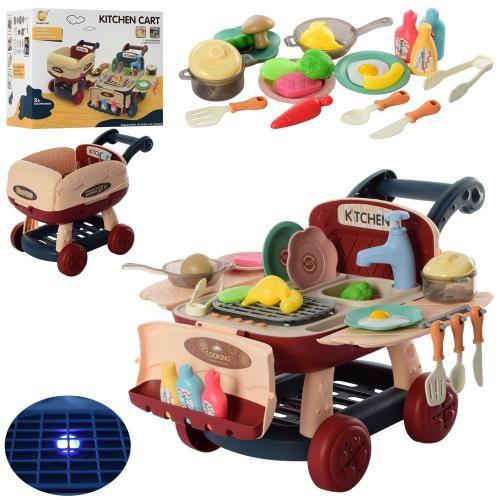 KM916-1 Ігровий набір Кухня тече вода, світло, звук, посуд, продукти коробка 29.5*18*24.5 см