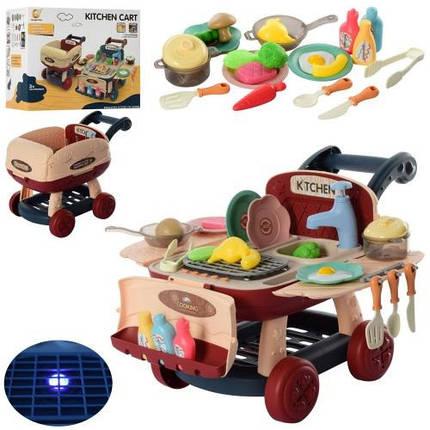 KM916-1 Ігровий набір Кухня тече вода, світло, звук, посуд, продукти коробка 29.5*18*24.5 см, фото 2