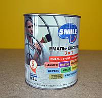 Промышленная алкидно-уретановая молотковая  эмаль- экспресс 3 в 1 Smile (0,7 кг), фото 1