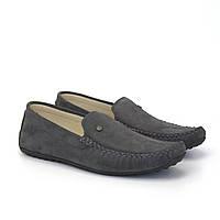 Мужские мокасины серые замшевые летняя обувь Rosso Avangard 708 Alberto Grey