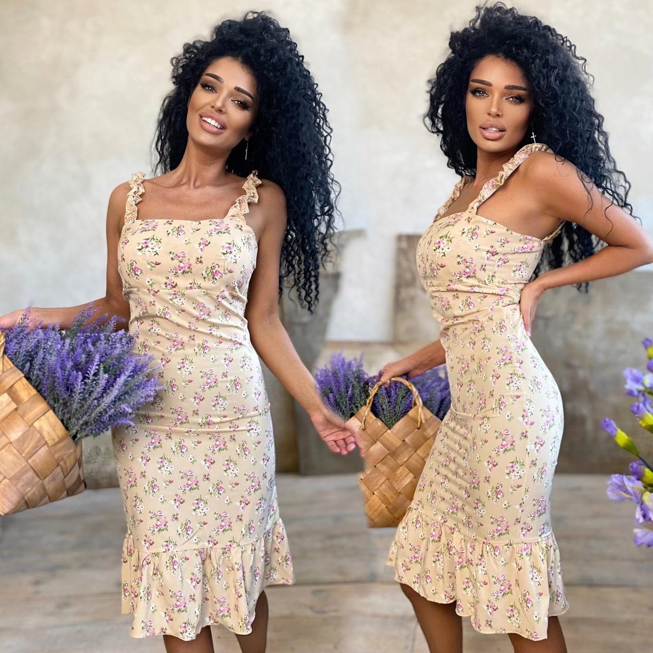 Платье женское летнее  софт 42-44, 46-48 разные цвета