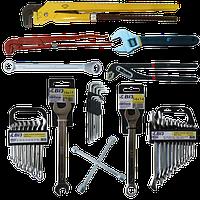 Ключи гаечные, трубные, накидные, разводные, наборы ключей