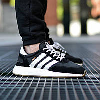 Кроссовки Мужские Adidas Iniki Runner Boost Чёрные Адидас (размеры: 43,44,45,46) Видео Обзор